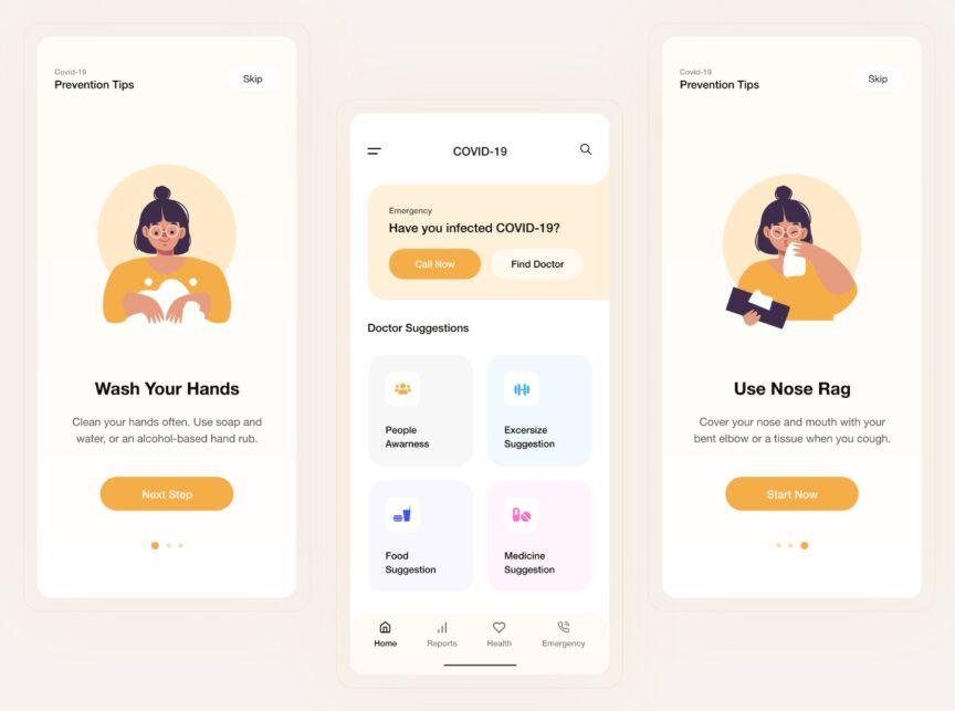 COVID-19 App UI