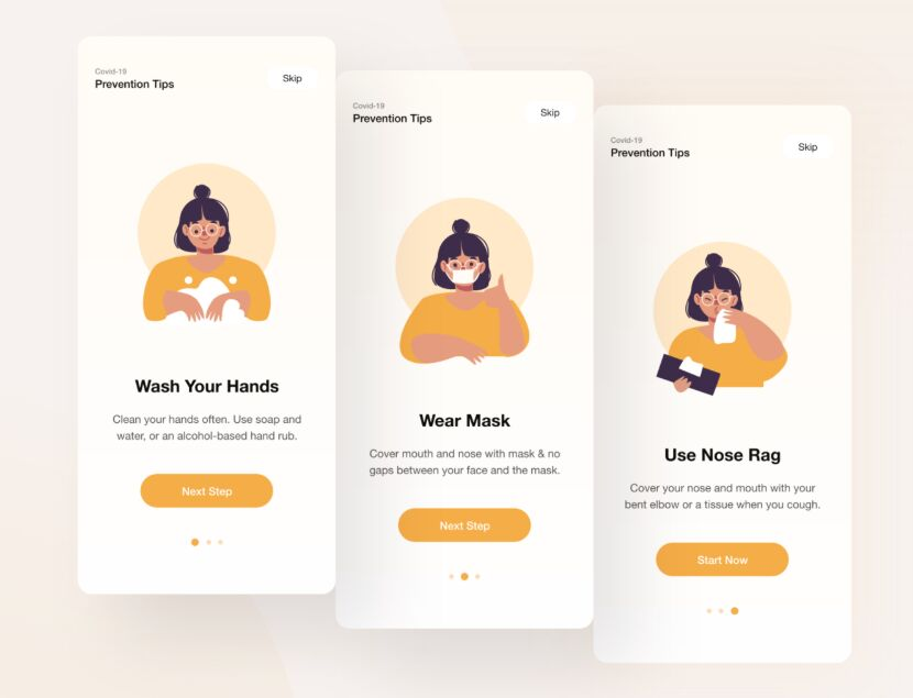 COVID-19 Onboarding Design