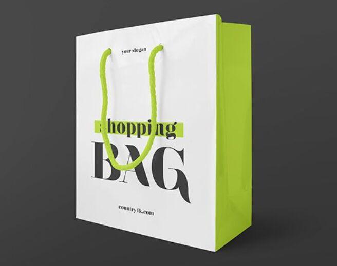 Free Glossy Shopping Bag Mockup