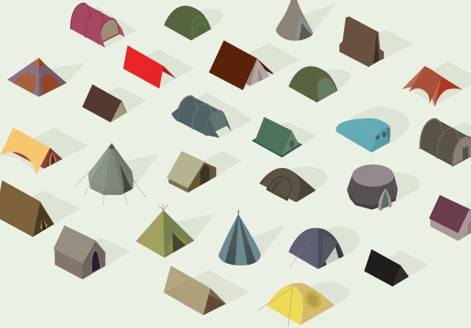 Isometric Tents Poster
