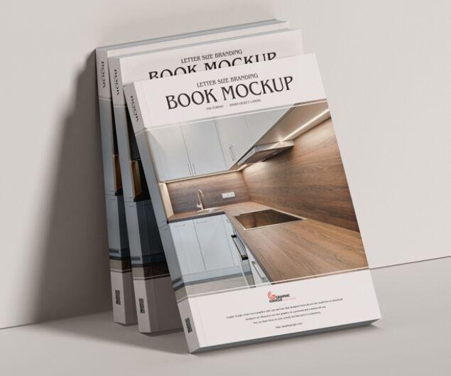 Letter Size Branding Book Mockup