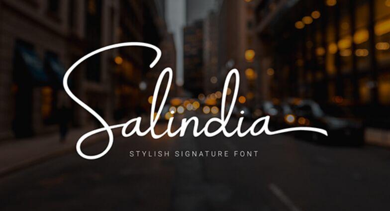 Salindia Handwritten Font