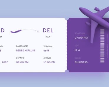 Boarding Pass UI Design For Adobe XD