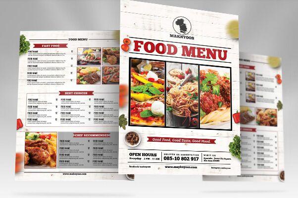 Free Download Food Menu Template