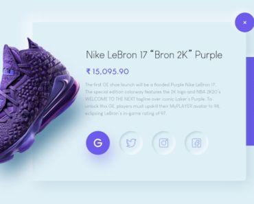 Social Share Concept UI