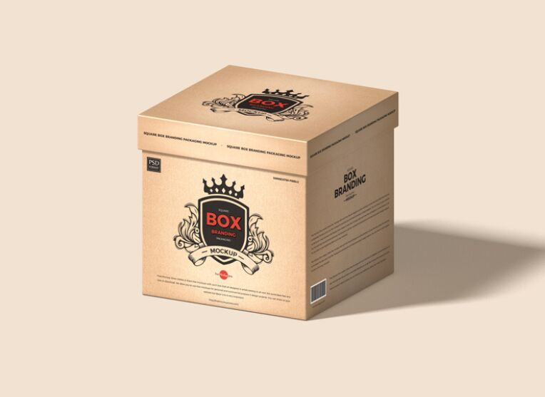 Square Box Branding Packaging Mockup