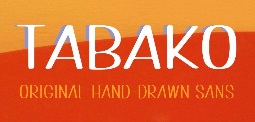 TABAKO Free Sans Typeface Font
