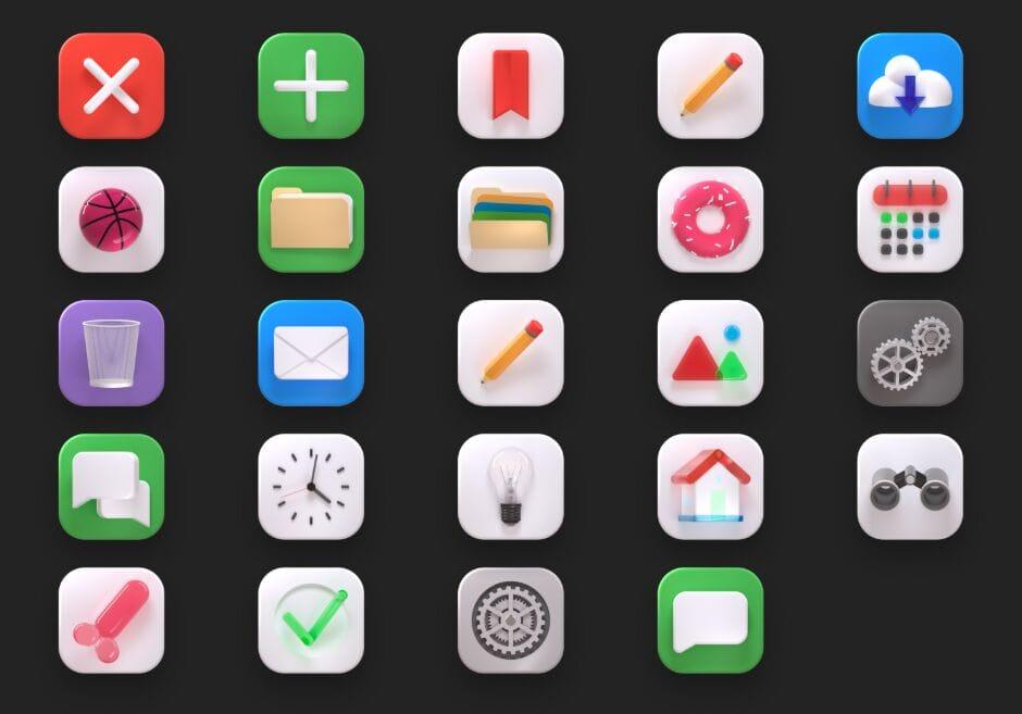 30+ Free 3D Big Sur Icons