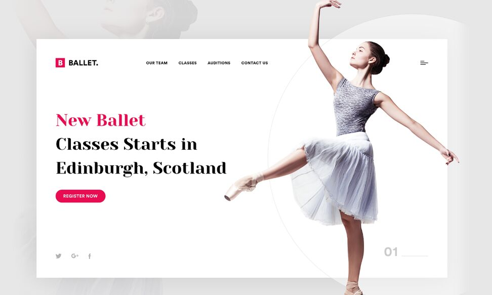 Ballet Dance Web Page Template