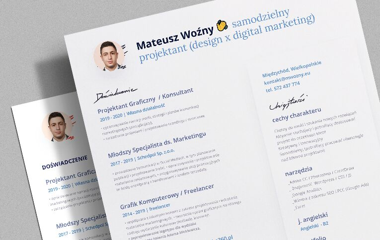 CV Resume 2020 Free PSD Template Download