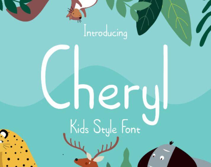 Cheryl Kids Style Font