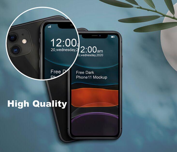 Dark Phone11 Mockup PSD Template