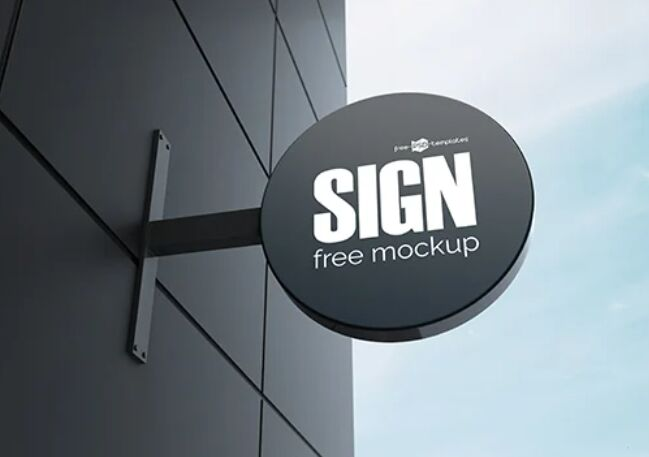 FREE SIGN MOCKUP IN PSD