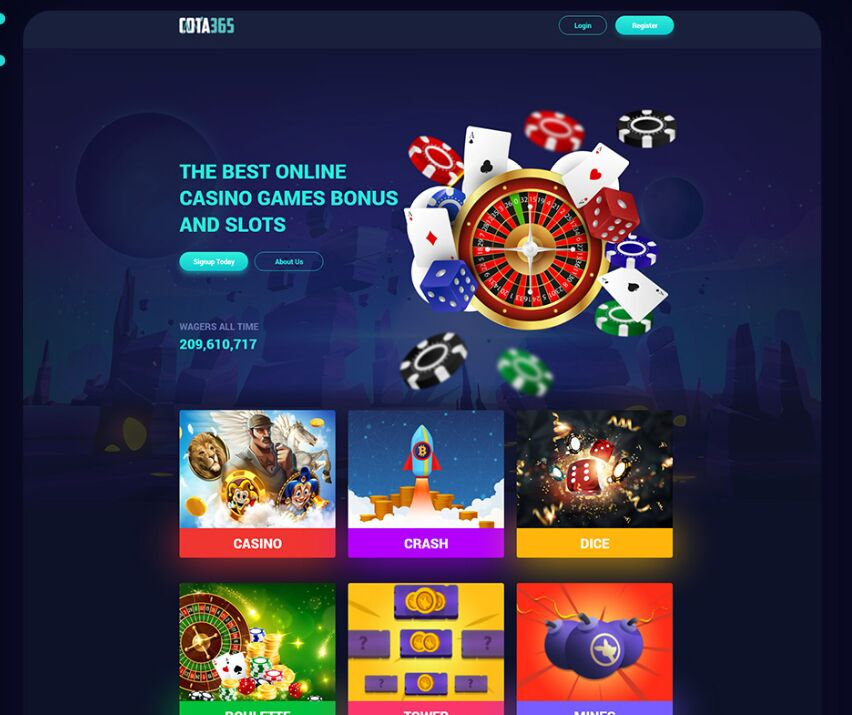 Casino Games Landing Page Free XD Template