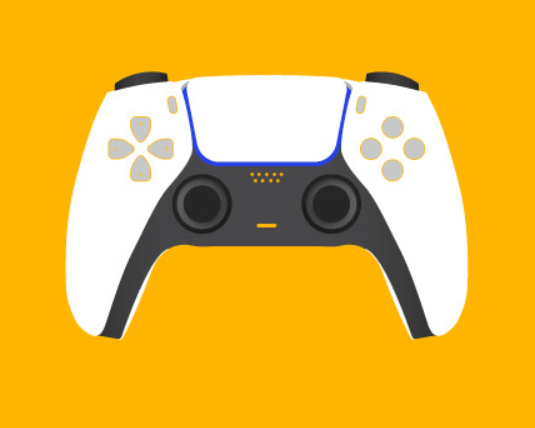 Minimal PlayStation Game Controller Vector