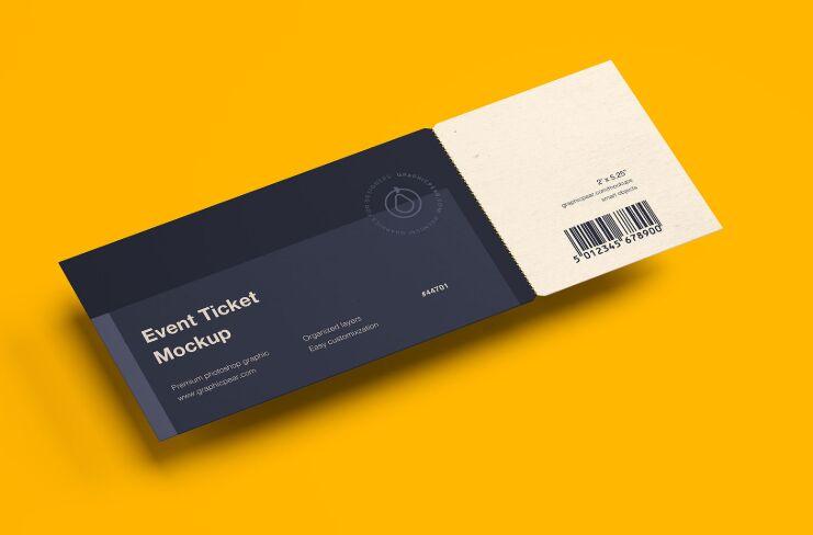 Simple Ticket Mockup