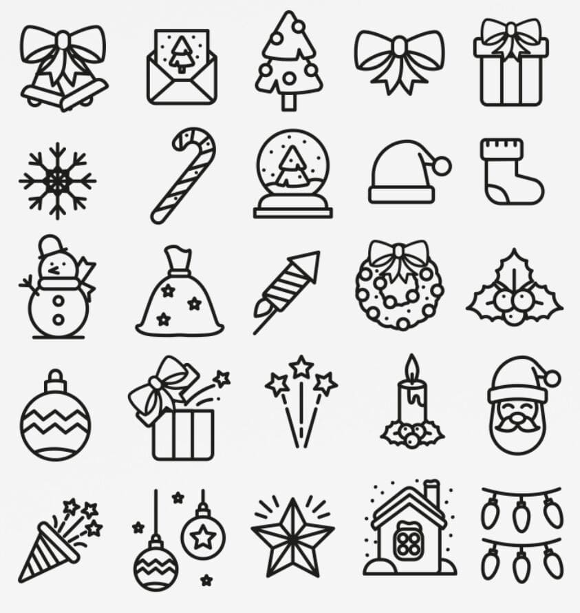 25 Christmas Vector Icons