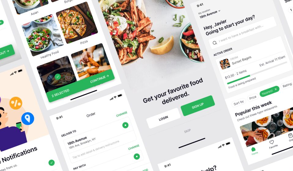 Food Delivery App UI Kit For Figma