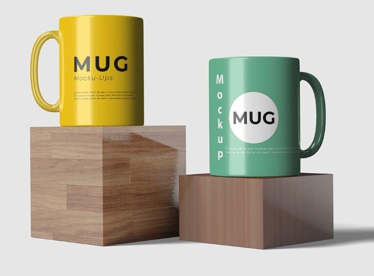High-resolution Mug PSD Mockup
