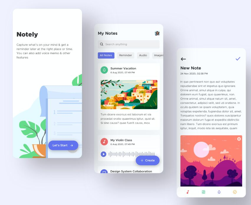 Note Taking App Design
