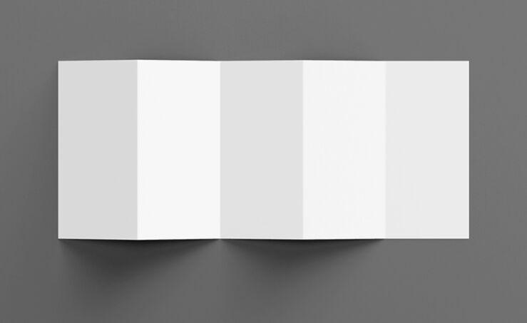 Penta-Fold Brochure Mockup Set