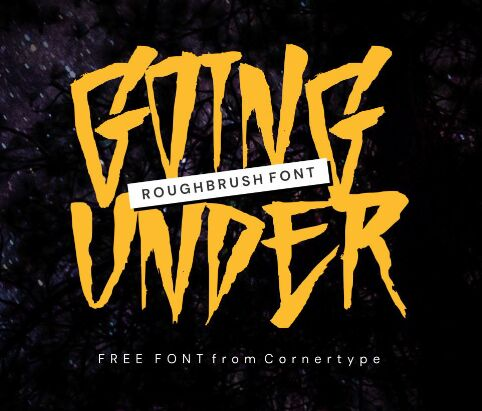 Going Under Free Font