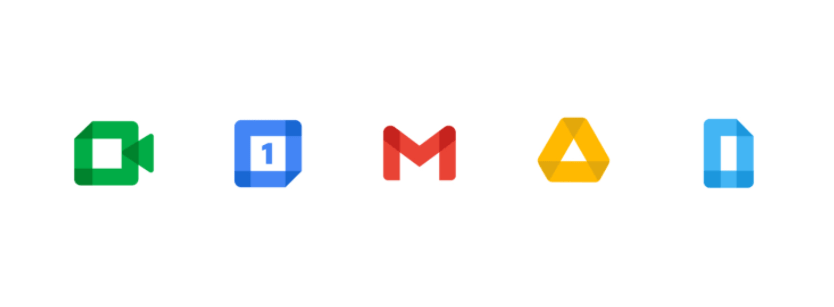 Google App Icons Recoloured