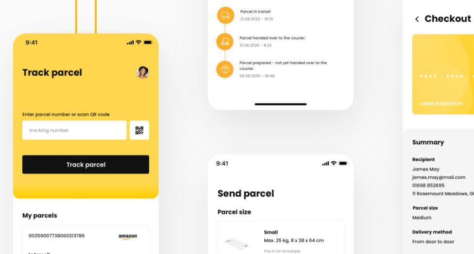 Parcel Delivery App Design