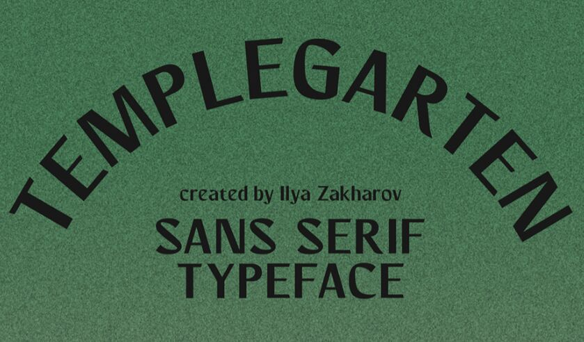 Templegarten Free Font (Latin and Cyrillic)