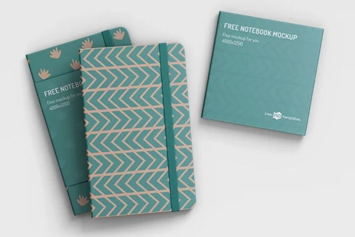 3 Free Realistic Notebook Mockups