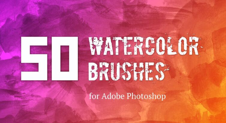 50 Watercolor Brushes Free Download