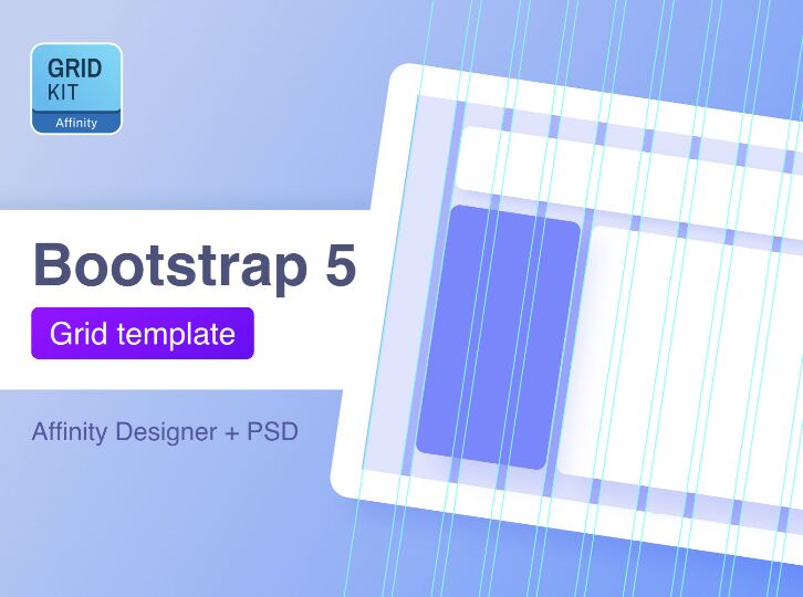 Bootstrap 5 Grid Affinity Designer