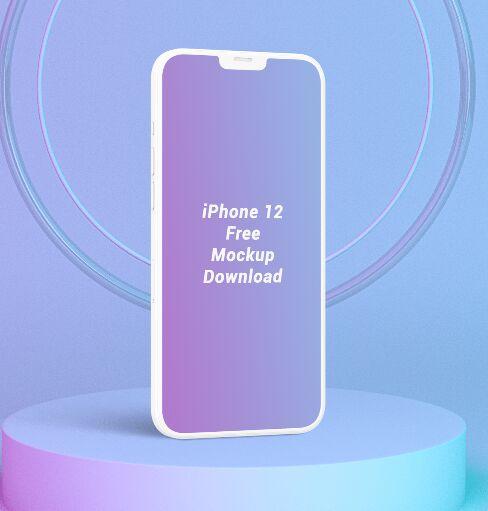 Minimal Standing iPhone 12 Mockup