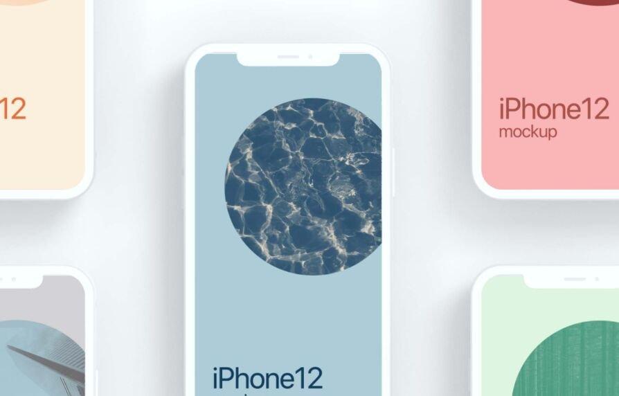 iPhone 12 Cray Mockup Free