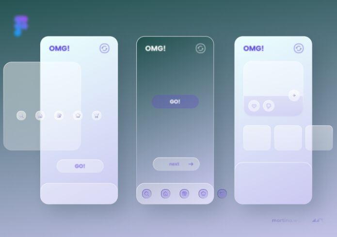 Glassmorphism UI Concept