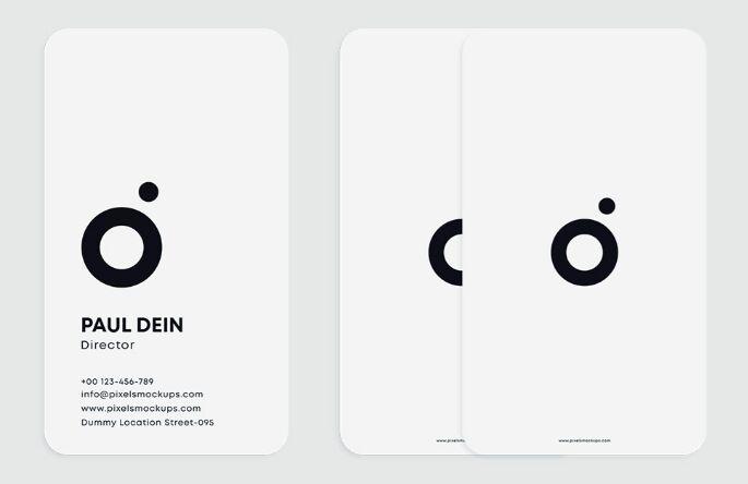 Minimal Free Business Card Mockups PSD
