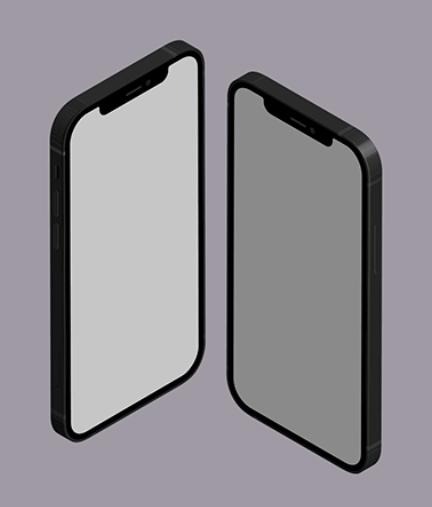 iPhone 12 Free Isometric set