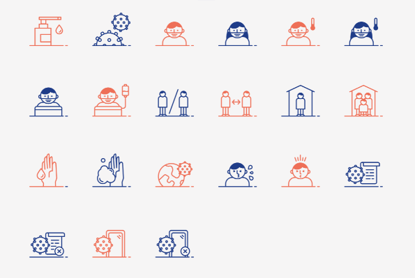 21 COVID-19 SVG Icons