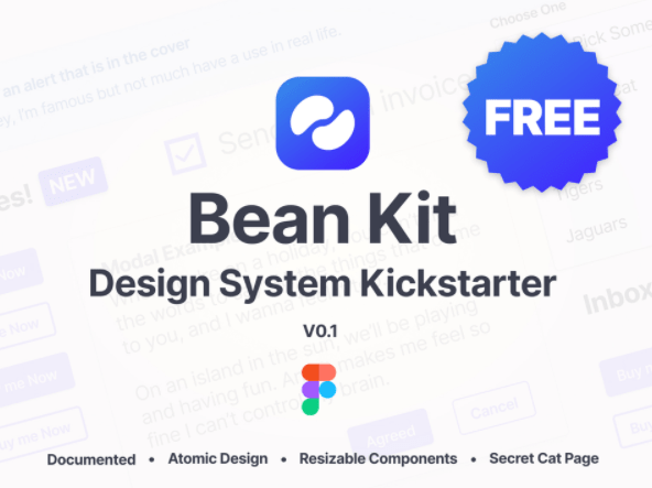 Bean Kit Free Design System Kickstarter Kit