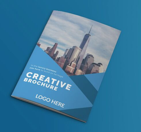 Business Brochure with Free Mockup