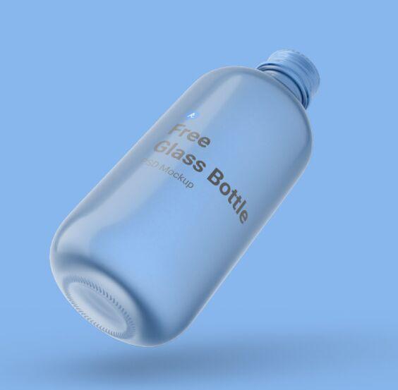 Free Glass Bottle PSD Mockup