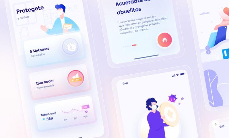UI App Covid Glass Concept