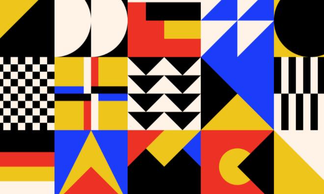 Bauhaus Vector Pattern