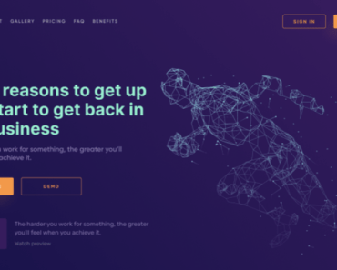 Dark Landing Page Concept For Data Processing Company