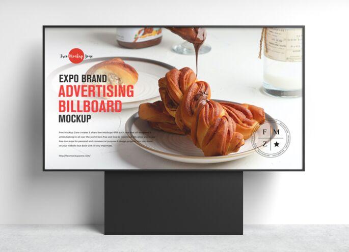 Free Expo Brand Advertising Billboard Mockup
