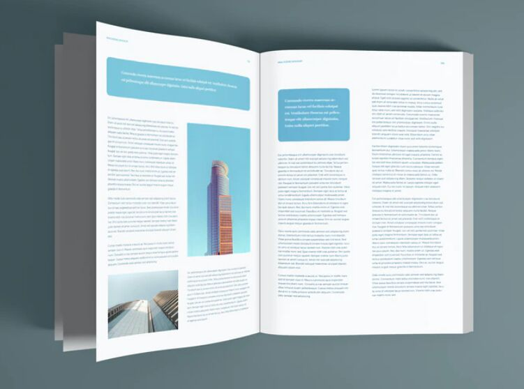 Magazine Pages PSD Mockup