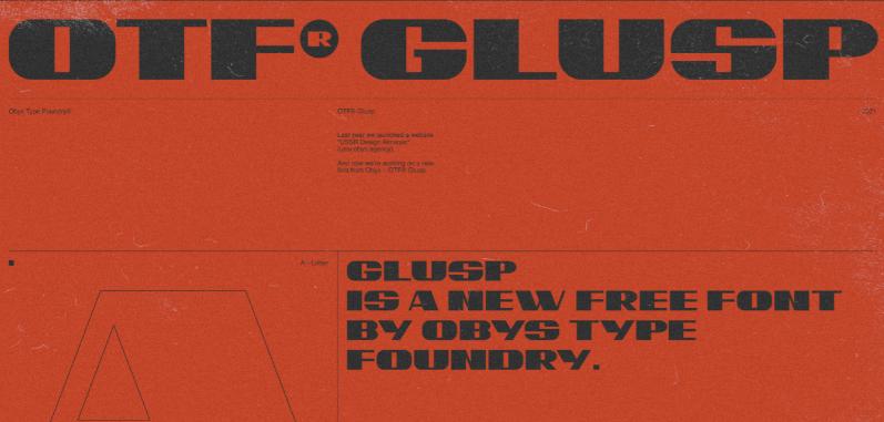 OTF GLUSP Font
