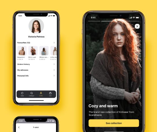 Online store free UI-kit for iOS