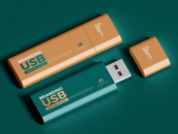 PSD Branding USB Flash Drive Mockup
