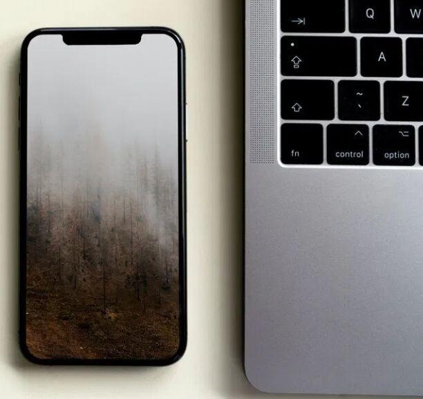 iPhone 12 Next To Macbook Free Mockup